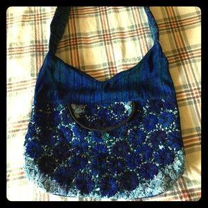 Boho tote bag beautiful colors never used